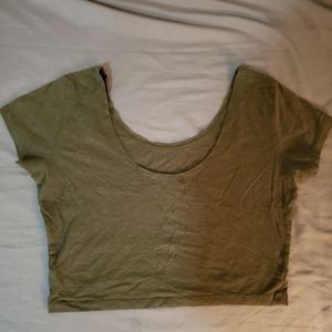 Cropped top olive green